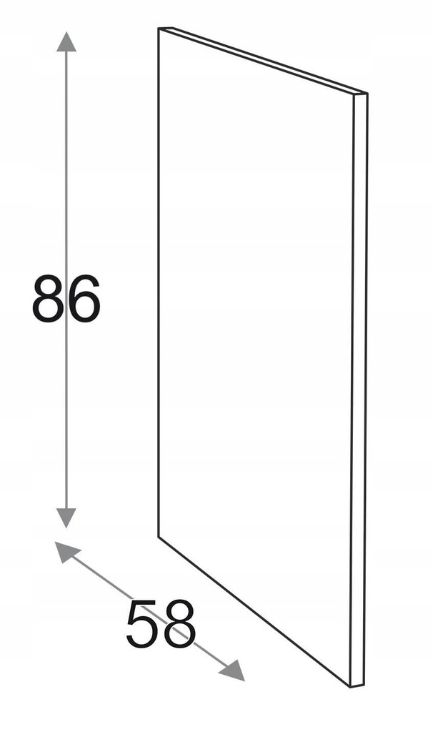 Сторона 86 см D = 58 см Kamduo ML