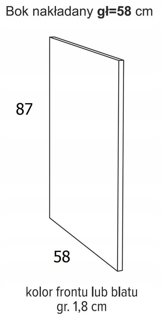 ВЫСОТА БОКОВОГО НАКЛАДКИ 87 x 58 см ОЛИВИЯ СОФТ