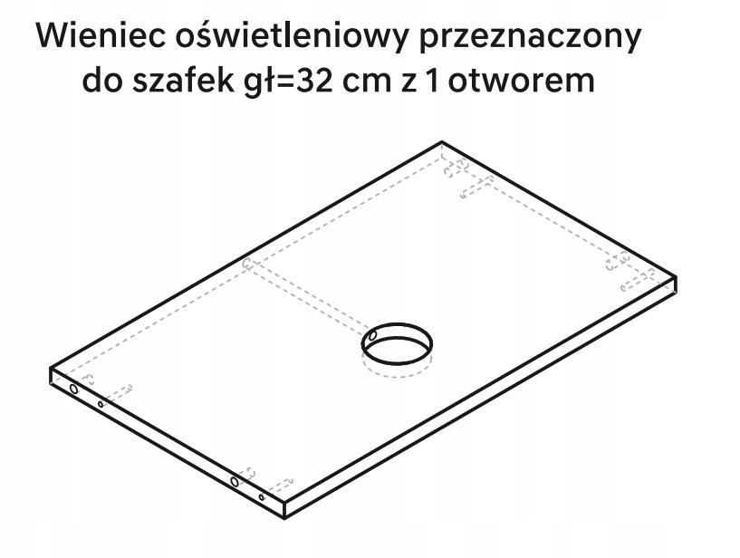 Осветительное кольцо для шкафа KAMMONO 80 см