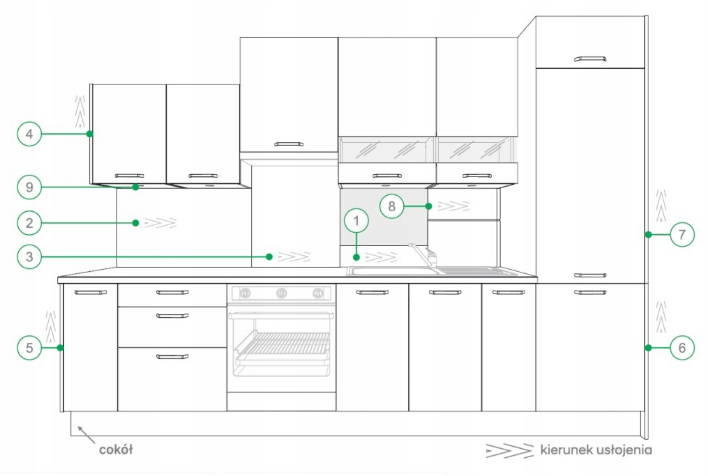 Накладка на подвесной шкаф KAMMONO P4 90 см