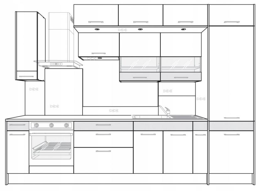 Панель освещения для шкафа Kamduo ML 80 см