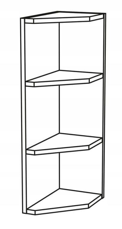 Шкаф подвесной угловой верхний с полками КД