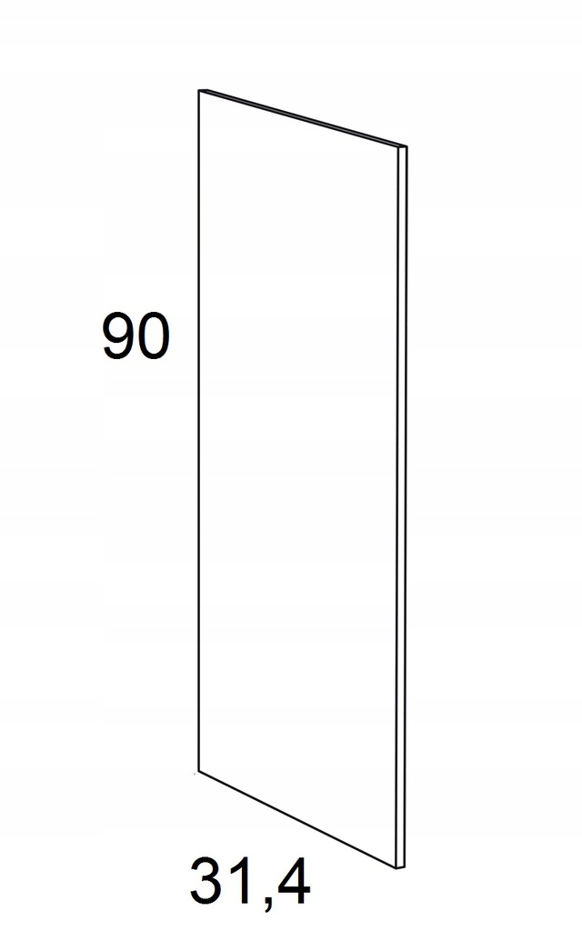 Накладка на подвесной шкаф KAMMONO F6 90 см