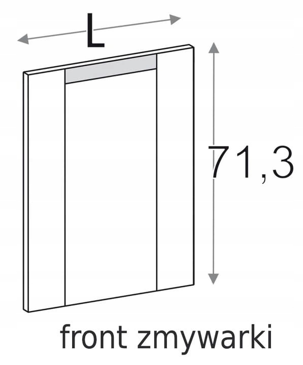 ПЕРЕДНЯЯ ПАНЕЛЬ ПОСУДОМОЕЧНОЙ МАШИНЫ 45 см OLIVIA SOFT