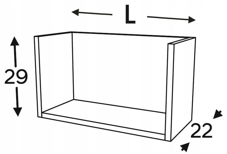 Полка подвесная открытая, 60 см KAMMONO P4