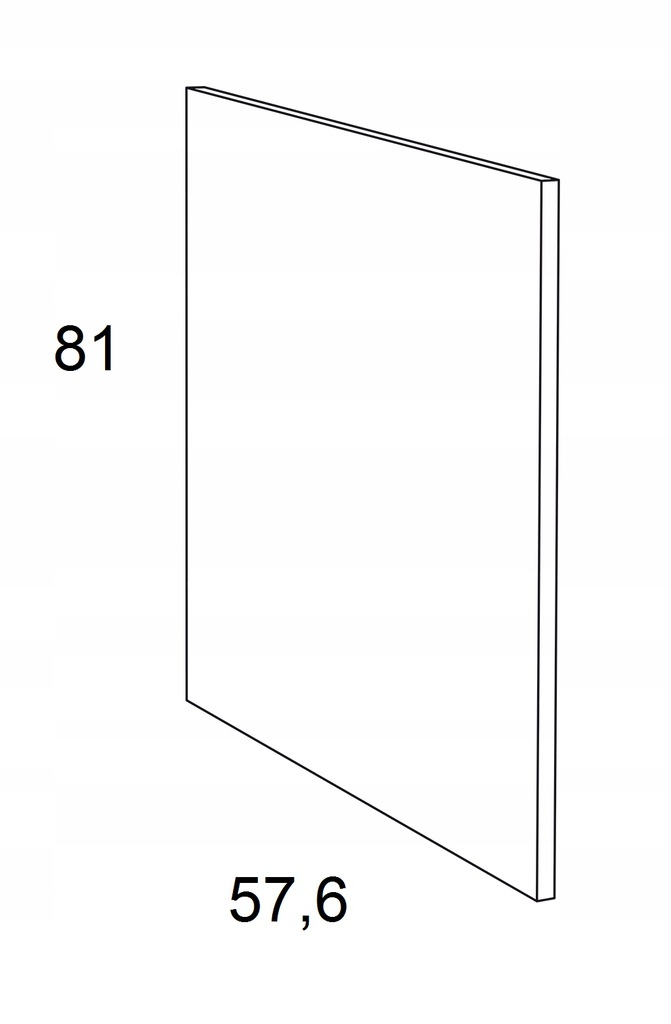 Накладка на нижний шкаф 81 см KAMMONO P4