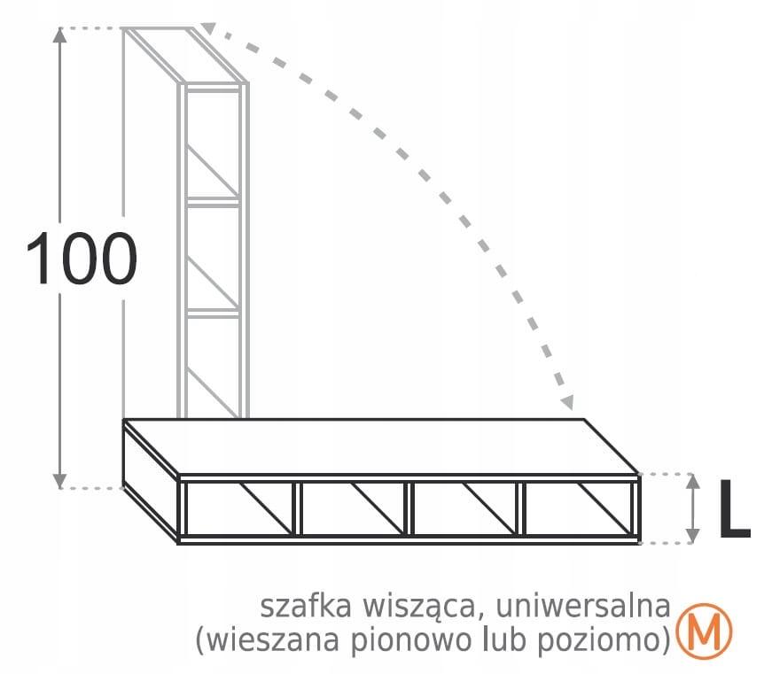 Подвесной шкаф 25 см открытый 100 см Kamduo ML