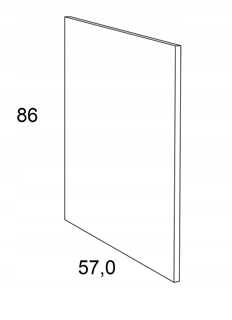 Накладка на нижний шкаф 86 см KAMMONO F6