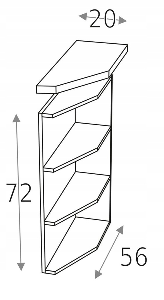 Нижний шкаф 20 см оканчивается КД верхом
