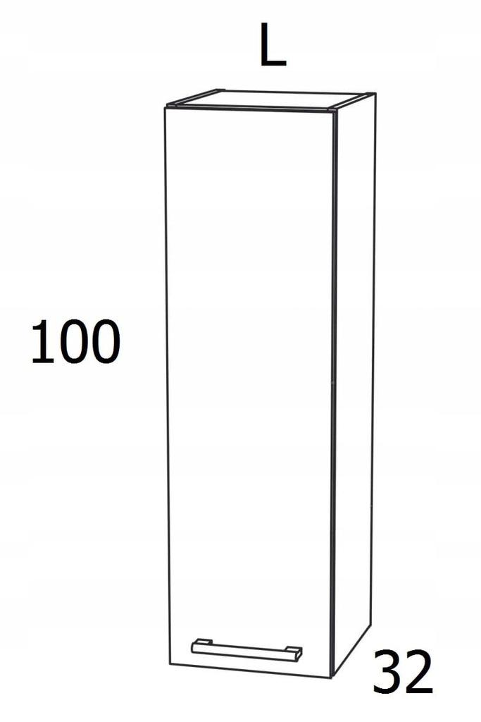 ШКАФ 1 ДВЕРНЫЙ 30 см ВЫСОКИЙ KAMDUO XL