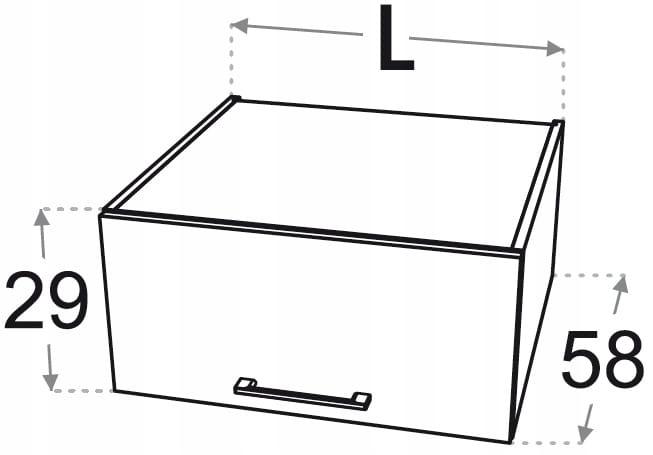 Шкаф для установки над стойками Kamduo ML 55 см.