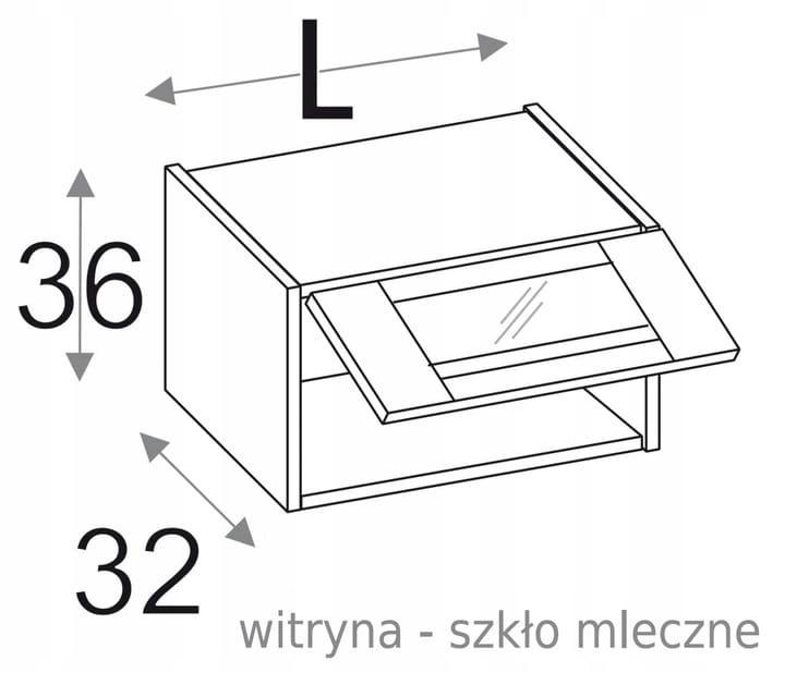 ПОДВЕСНОЙ СТЕКЛЯННЫЙ ШКАФ 40 см OLIVIA SOFT