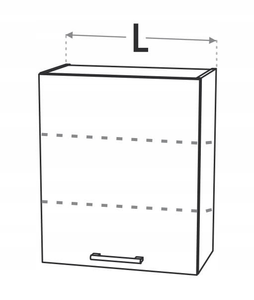Шкаф верхний 60 см, подвесной, 1 дверца KD