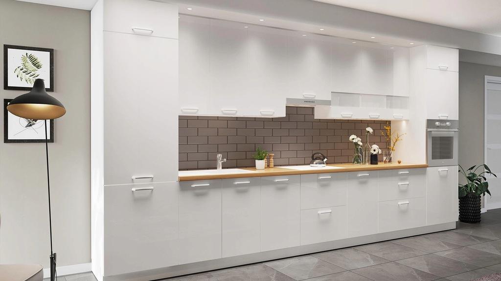 Шкаф навесной со стеклянной витриной 1 дверца 40 см KAMMONO P4