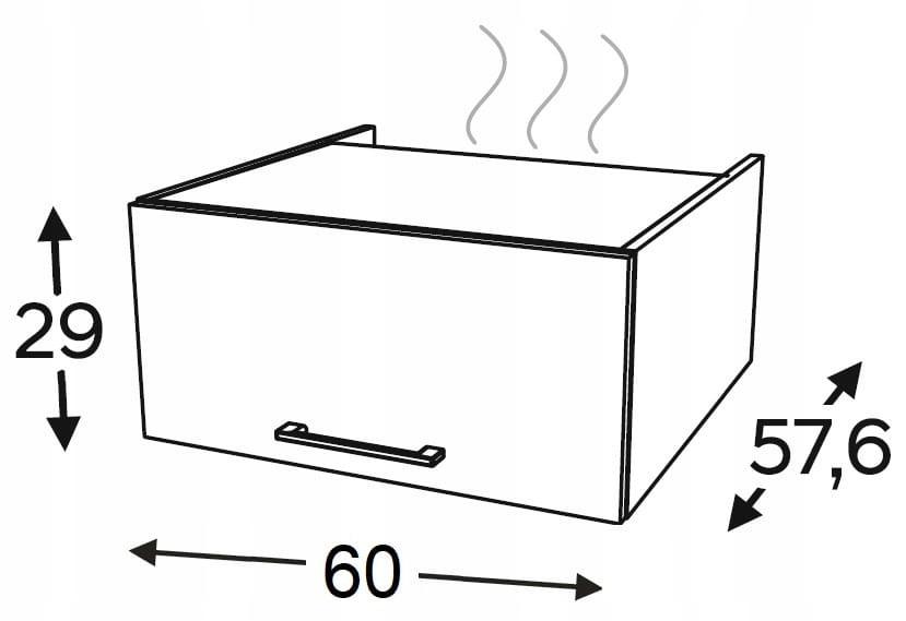 Удлинитель над стойками для бытовой техники 60см KAMMONO P4