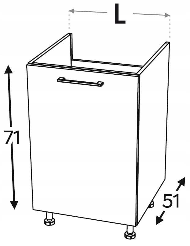 KAMMONO P2, K2. Шкаф под умывальник 50 см.