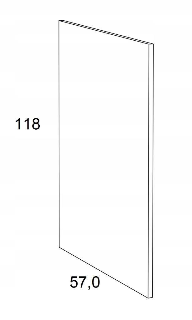 Накладка на нижний шкаф 118 см KAMMONO F6