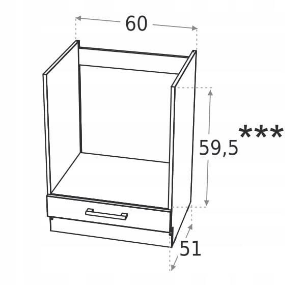 Духовка встроенный шкаф 60см KD