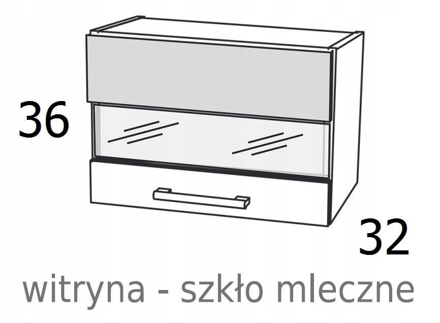 ПОДВЕСНОЙ СТЕКЛЯННЫЙ ШКАФ 80 см KAMDUO XL