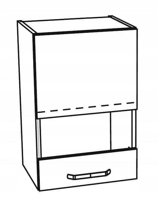 Шкаф навесной со стеклянной витриной 1 дверца 50 см KAMMONO P4