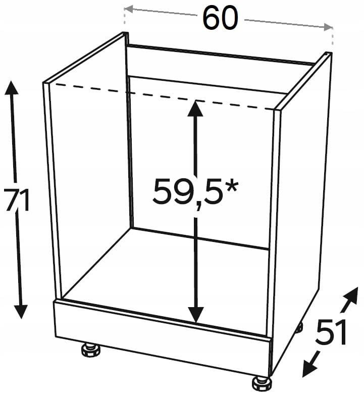 Шкаф для духовки 60 см KAMMONO P2, K2