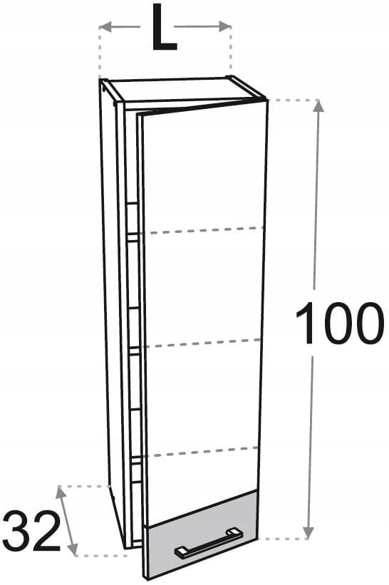 Верхний шкаф 45 см с 1 дверцей Kamduo ML