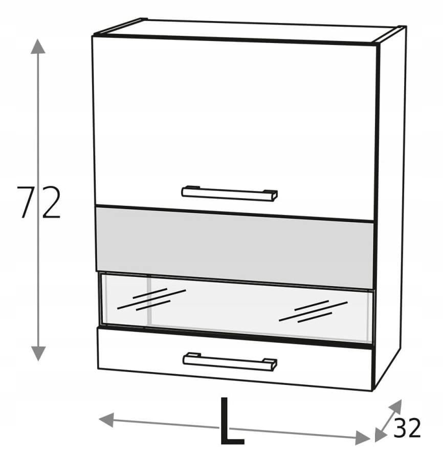 Шкаф подвесной верхний 60 см с 2 дверцами KD