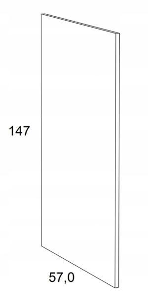 Накладка на нижний шкаф 147 см KAMMONO F6