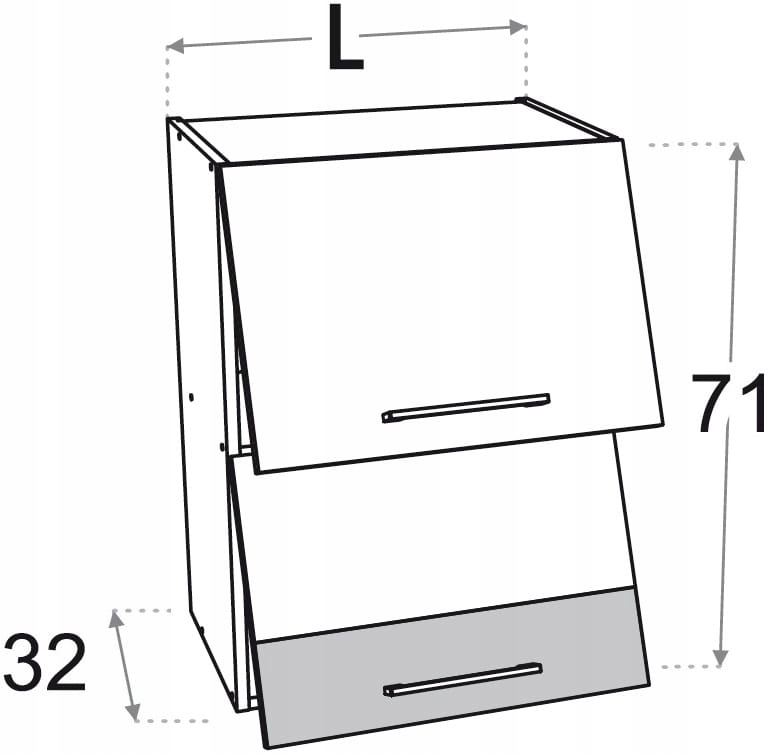 2-дверный шкаф 50 см Kamduo M