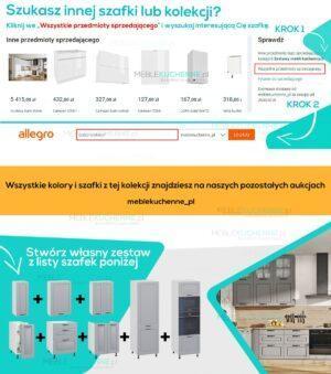 Шкаф комплектация холодильника Olivia Soft Black KL60