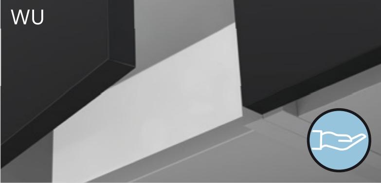 Высокий шкаф-витрина с 1 дверцей 45 см KAMMONO P4