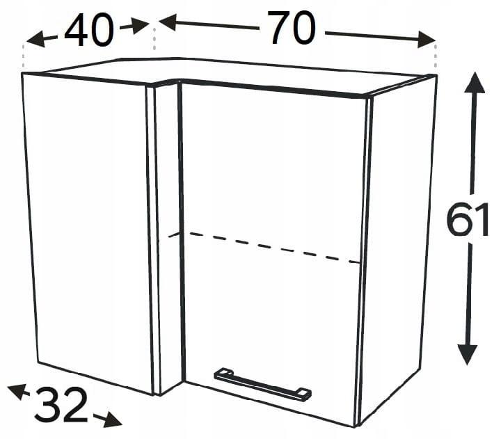 Шкаф угловой подвесной 70/40 см KAMMONO P4
