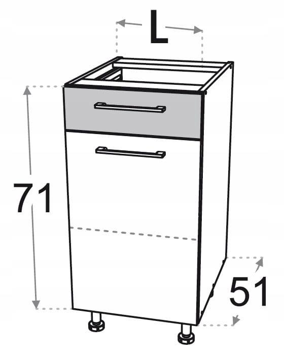 Нижняя тумба 45 см с ящиком Kamduo ML