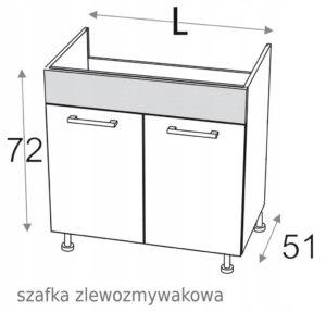 KAMDUO XL ШКАФ ДЛЯ МОЙКИ 90 см