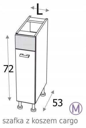 КУХОННЫЙ ШКАФ CARGO 20 см KAMDUO XL