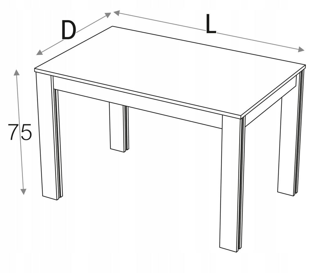 Стол кухонный 90 х 70 см КД