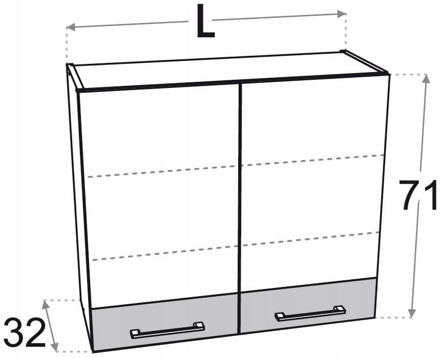 Шкаф верхний 2-дверный 90 см Kamduo ML