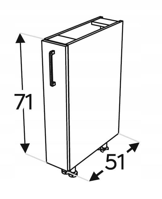 KAMMONO P4 грузовой кухонный шкаф 15 см