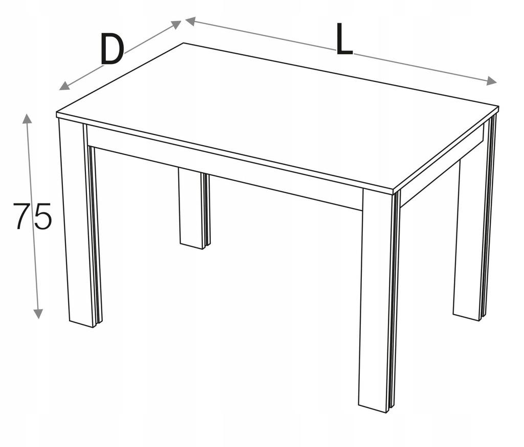 Стол кухонный 120 x 75 см KD