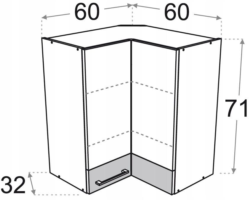 Шкаф угловой подвесной 60 x 60 Kamduo ML