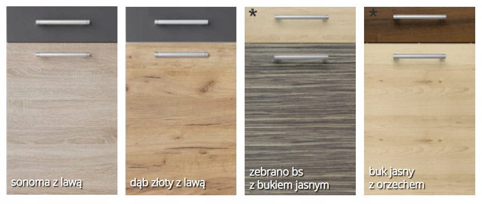 Напольный шкаф 90 см с 2 дверцами и ящиком KD