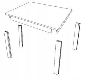 Стол кухонный 140 х 80 см КД