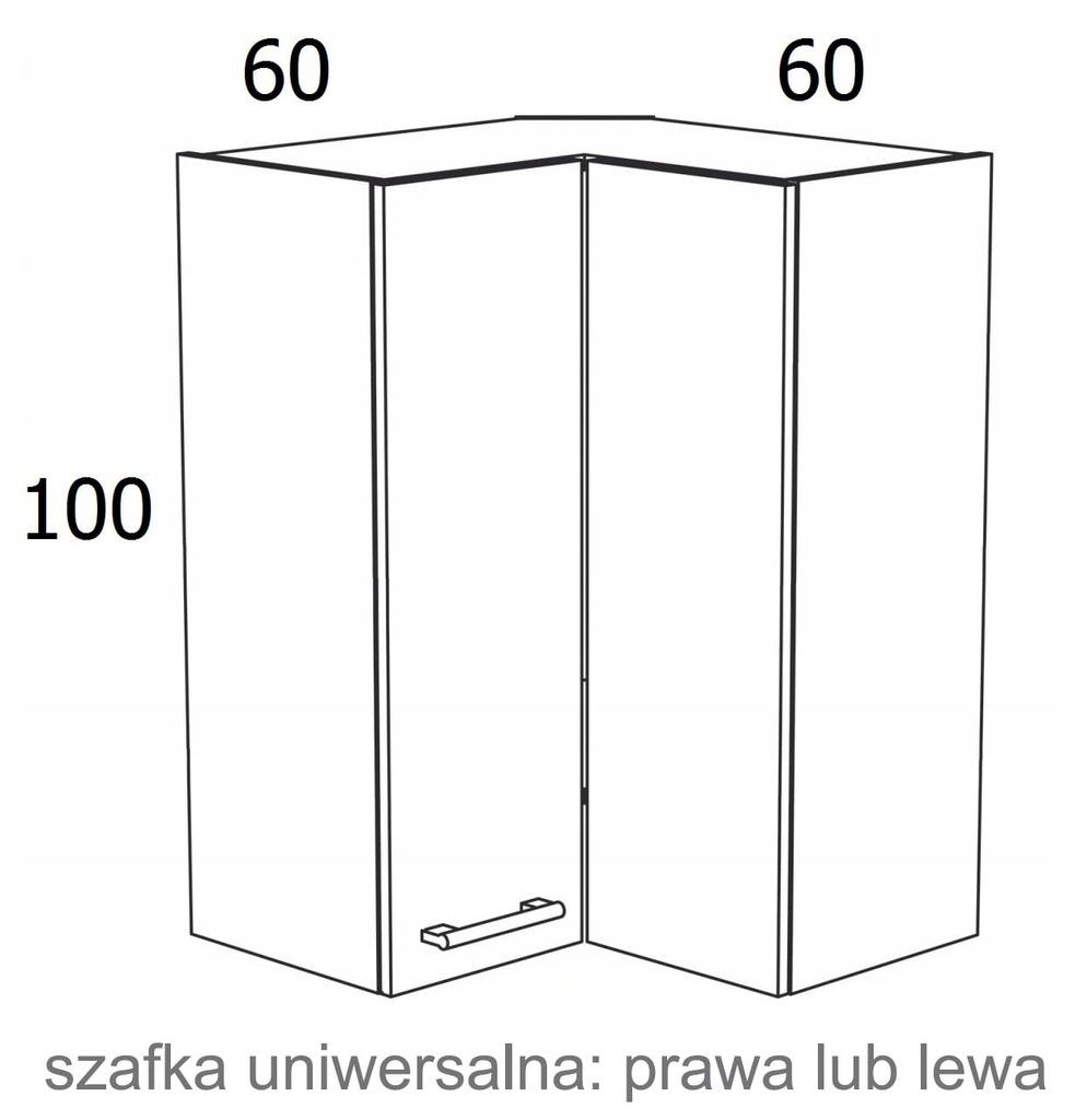 ПОДВЕСНОЙ УГЛОВОЙ ШКАФ 60X60см KAMDUO XL HIGH