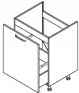 Шкаф под мойку 60см KAMMONO P2, K2