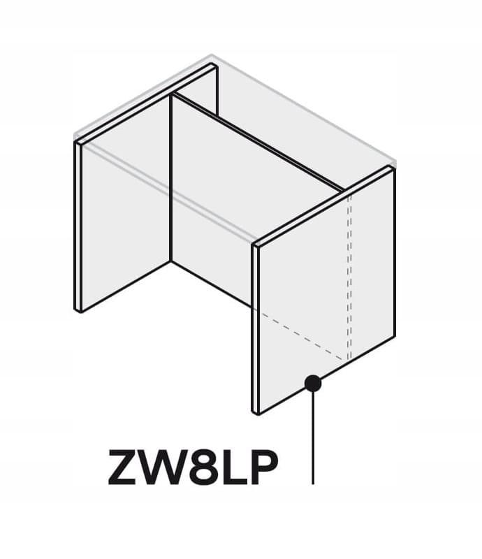 Кухонный остров 80 см ZW8LP80 P2 без столешницы