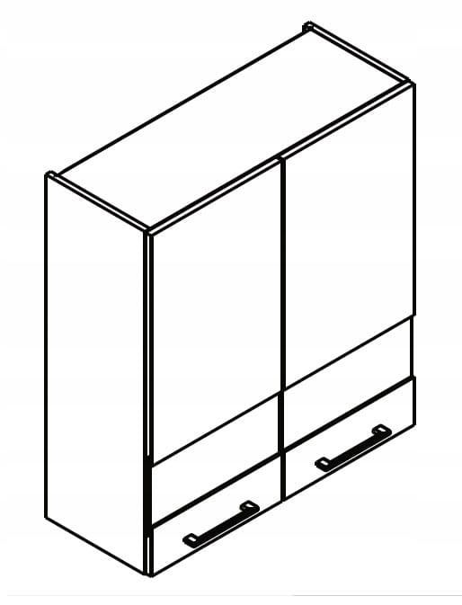 Шкаф, 2-дверный шкаф-витрина, 80 см KAMMONO P4