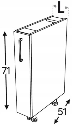 KAMMONO F4F5F7 шкаф кухонный грузовой 30 см