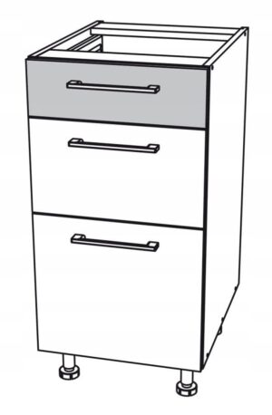 Нижний шкаф 55 см с 3 ящиками Kamduo ML