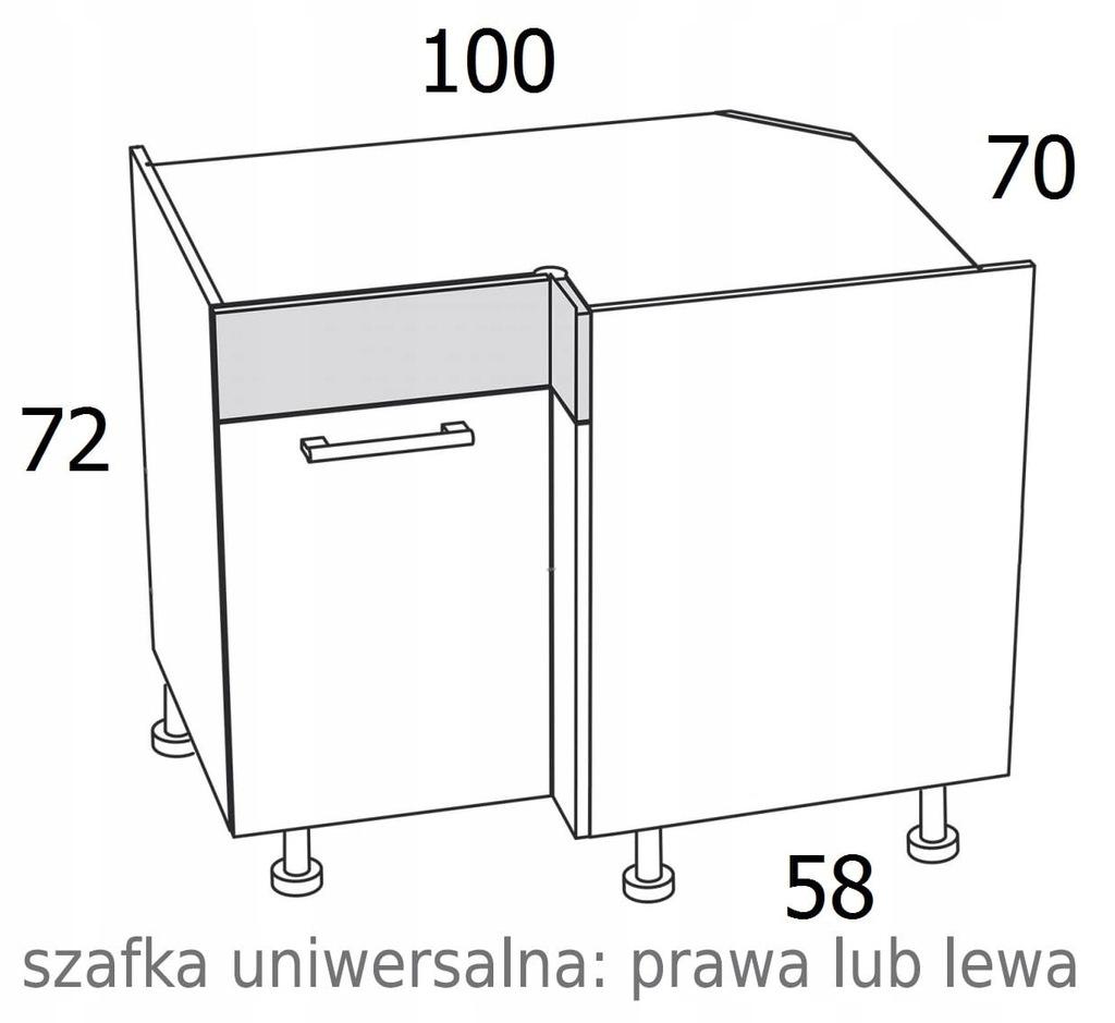 УГЛОВОЙ ШКАФ 100/70 см KAMDUO XL