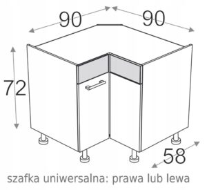 УГЛОВОЙ ШКАФ 90/90 см KAMDUO XL